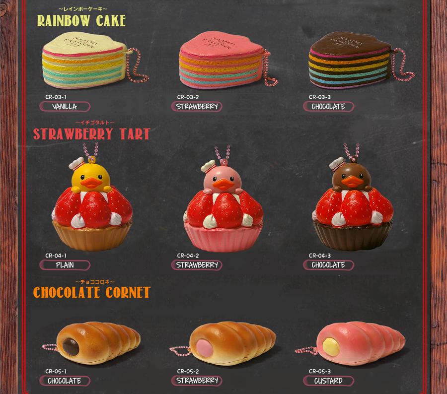 Sammy Rainbow Cake, Strawberry Tart And Choclate Cornet