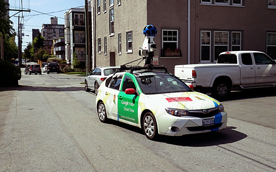 Google Maps Street View car in Fairview   sqwabb google street view car 01