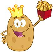 Clipart of Happy Potato With Crown k11531685 - Search Clip ... (170 x 167 Pixel)