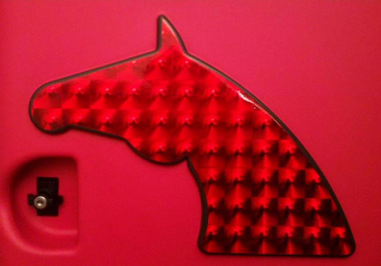 Hesteboks med glimmer effekt folie