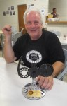 Dave and his trophy for 'Best 600/660' for his SRX, Bethanga 2014
