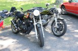 Greg's FT500 and Stew's SR500, Tallangatta