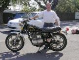 Mike Wischusen and his SR500 after restoration