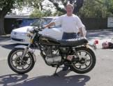 Mike Wischusen and his SR500 after restoration