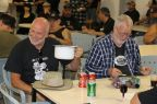 Paul & Grant share a drink, Bethanga 2015