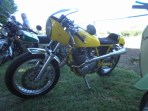 Paul Perry's 'yellow peril' SR500, Bethanga 2015