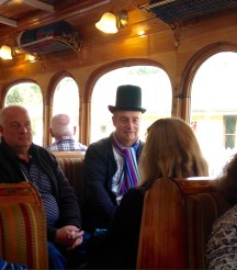 David & Ian, on the West Coast Wilderness Railway.
