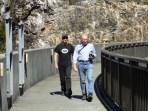 Craig, and Drew's pal, local photographer David Blühdorn on the dam wall at Gordon Dam.