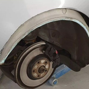 Widebody install: cutting out the rear quarters