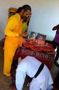 Pradeep getting Blessings