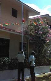 Sengodan Hoisting National Flag
