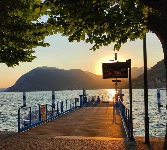 Il Lago di Iseo è una destinazione molto romantica al tramonto