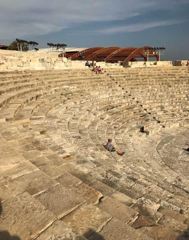 Il teatro ellenistico-romano di Kourion è uno dei più belli di Cipro