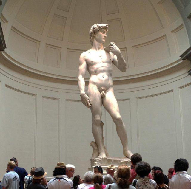 Il David di Michelangelo è un capolavoro d'arte italiana e mondiale e l'originale si può ammirare nella Galleria dell'Accademia.
