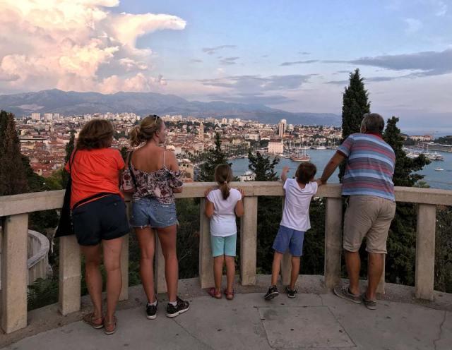 Uno dei panorami più belli di Spalato? Dal belvedere del monte Marjan