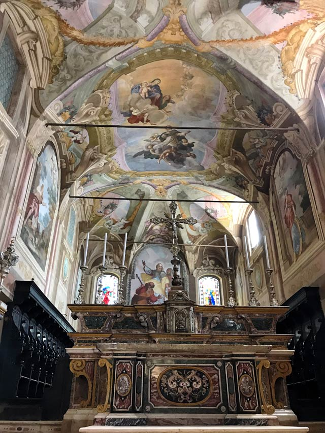 La Chiesa di San Giacomo a Soncino è costellata di bellissimi affreschi barocchi