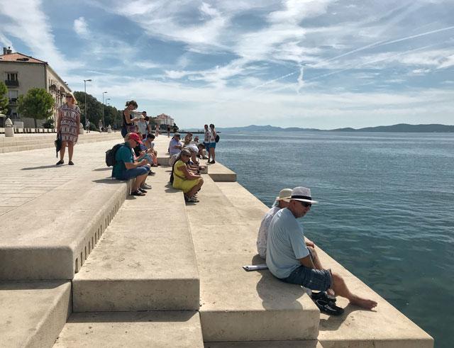L'Organo Marino e il Saluto al Sole sono due attrazioni moderne di Zara in Croazia