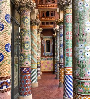 La loggia del Palau della Musica Catalana è uno dei posti più belli di Barcellona