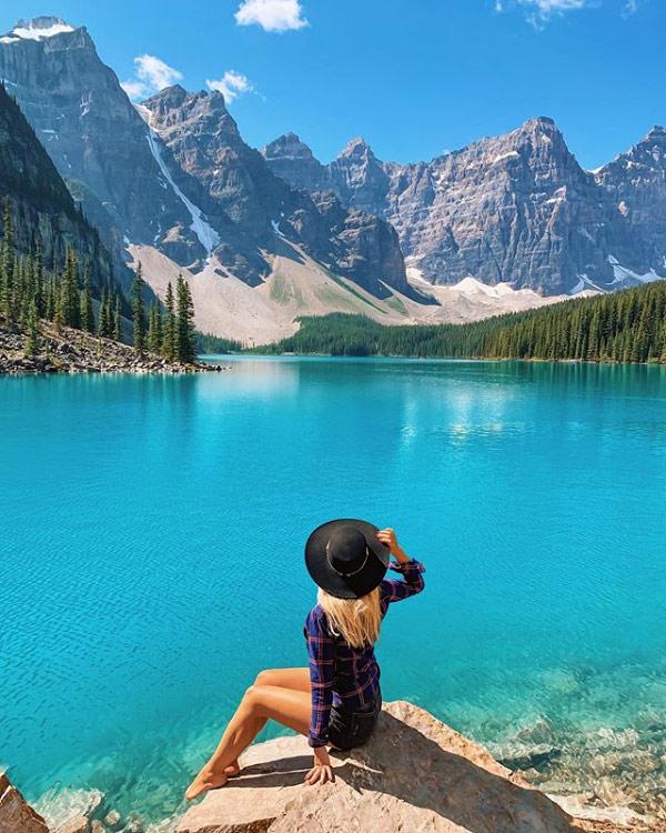 Il Moraine Lake-Banff National Park in Canada è un posto da sogno visitato da Marina Comes
