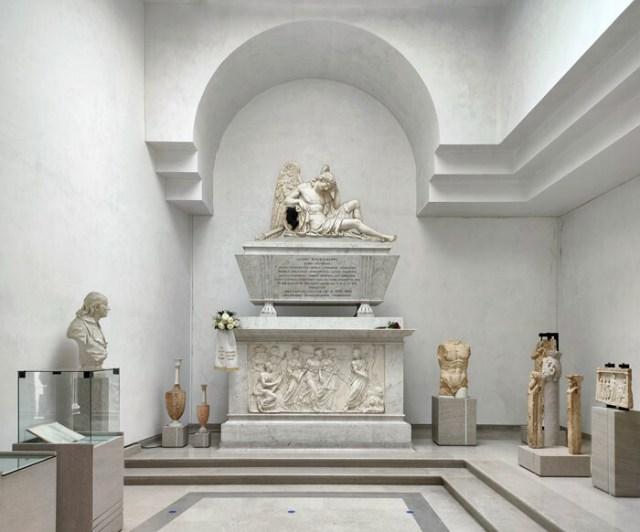Il Civico Museo d'antichità di Trieste conserva la tomba di Winckelmann