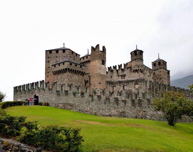 Nel mio tour dei castelli della Valle d'Aosta ho visto il Castello di Fénis
