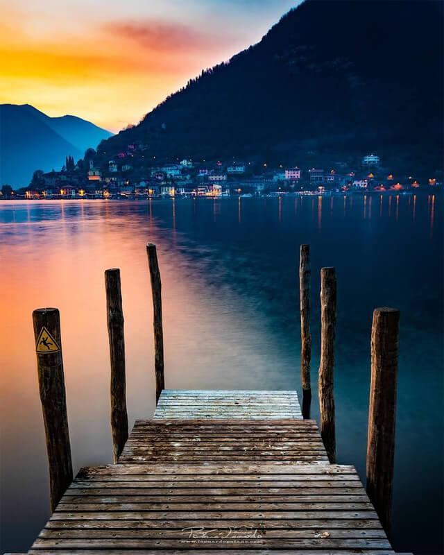Il pontile di Sulzano davanti a Montisola regala una foto perfetta per instagram