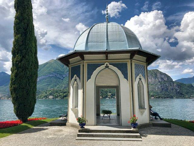 Il padiglione moresco è una bellezza dei giardini di Villa Melzi a Bellagio