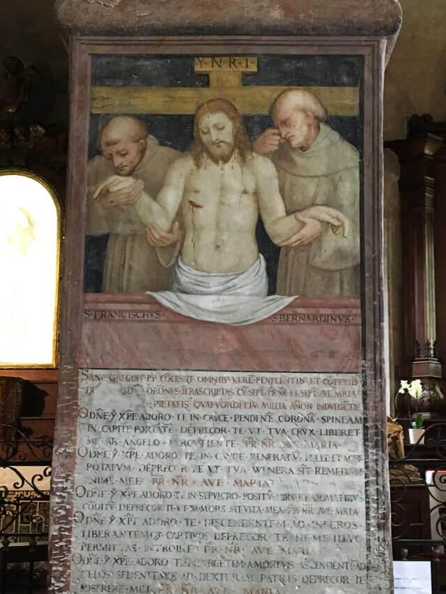 La chiesa di Santa Maria degli Angioli di Lugano ha tanti affreschi rinascimentali