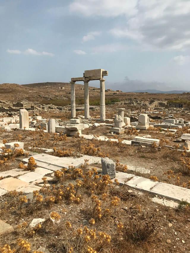 L'area archeologica di Delo è da vedere nelle isole Cicladi in Grecia