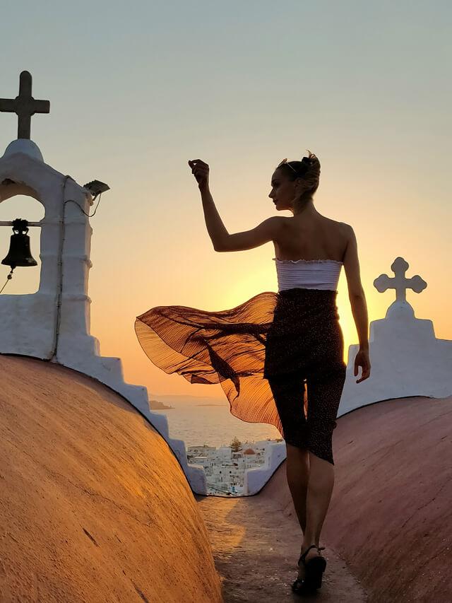 Dove vedere il tramonto a Mykonos? Dalla parte alta di Mykonos Town
