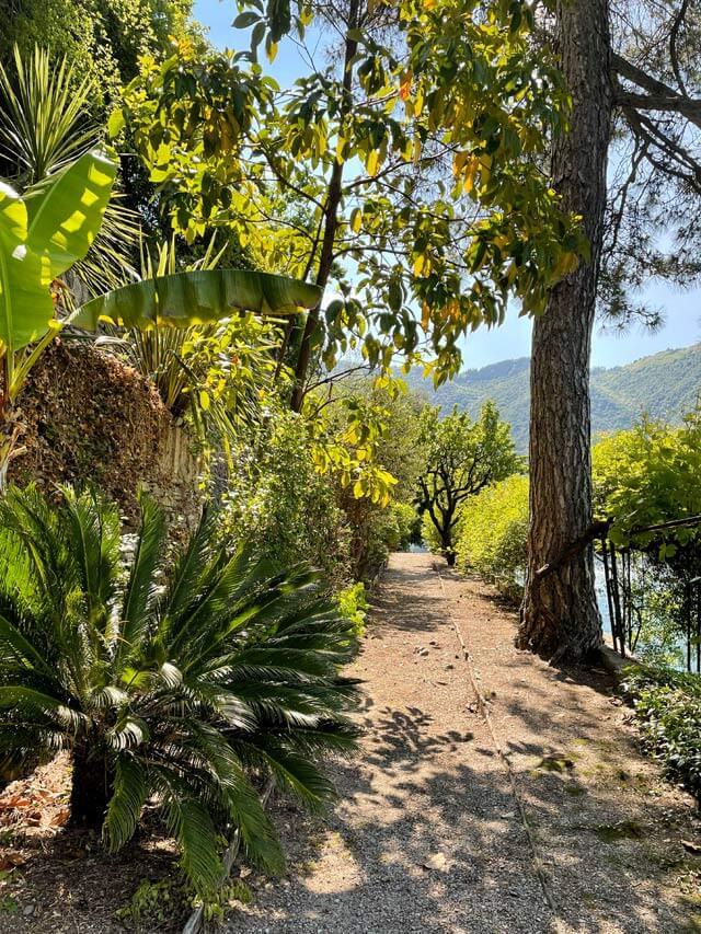 Il giardino di Villa Pizzo a Cernobbio è da vedere sul Lago di Como