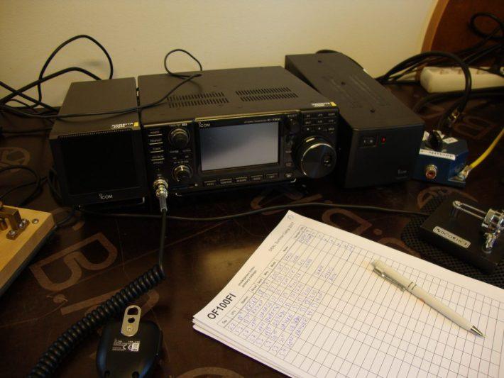 Radioamatööriasema.