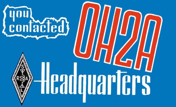 OH2A:n QSL-kortti.