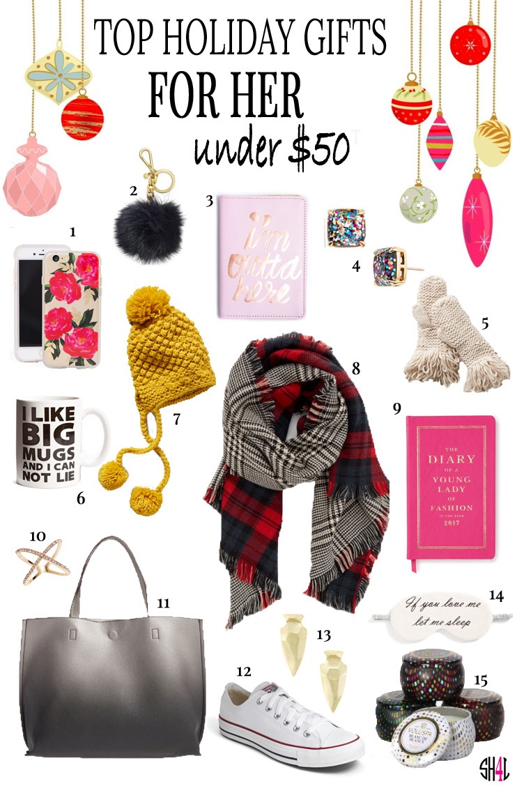 top holiday gifts for her under $50