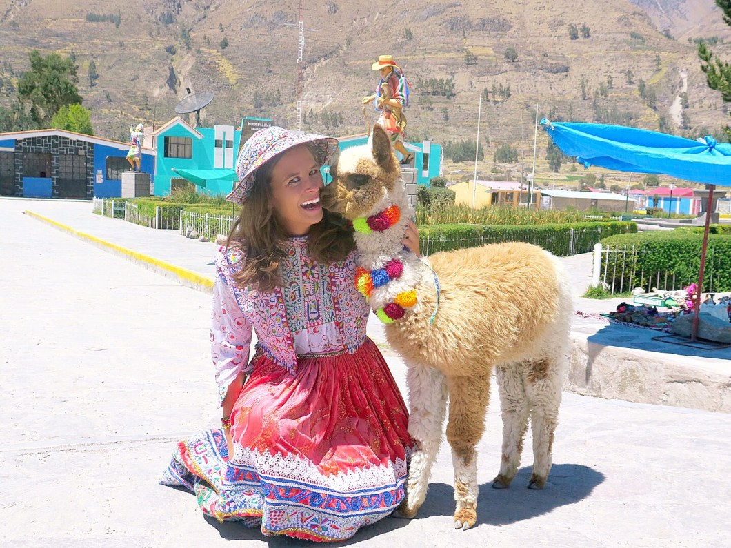 traditional peruvian clothes & alpaca