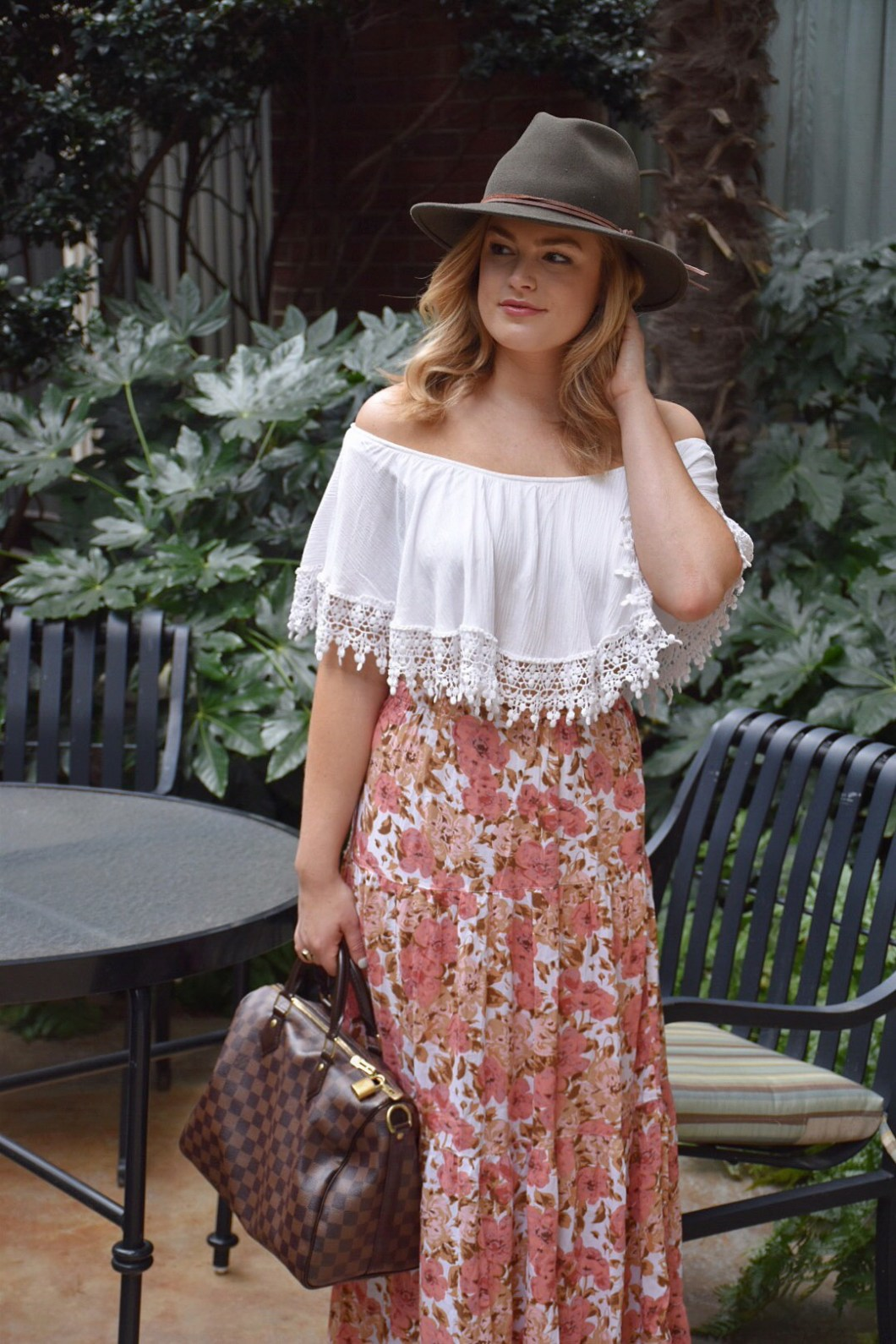 Transitional outfit from summer to fall