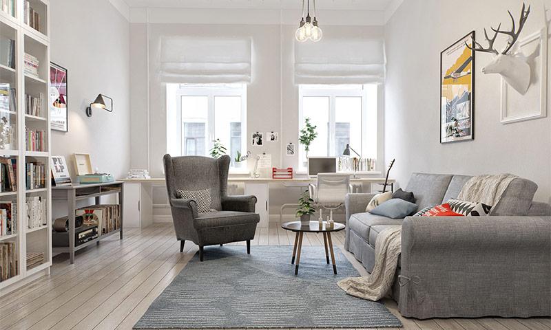 дизайн квартиры в скандинавском стиле 7