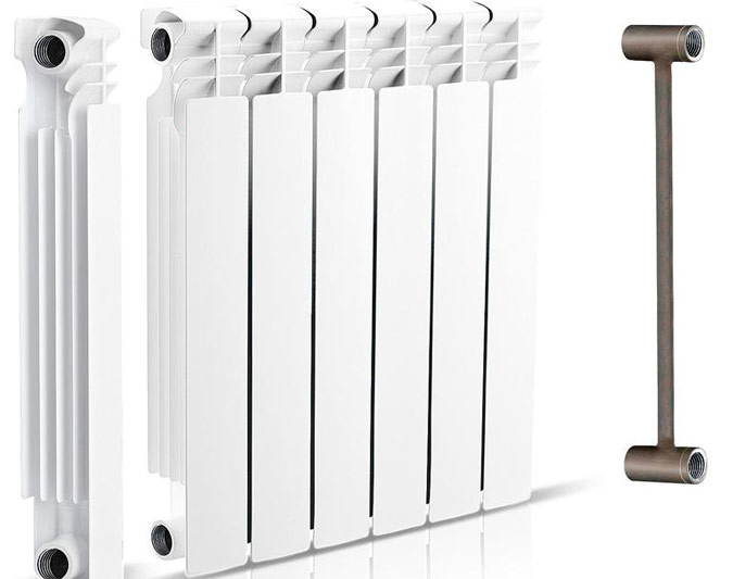 Секционный биметаллический радиатор