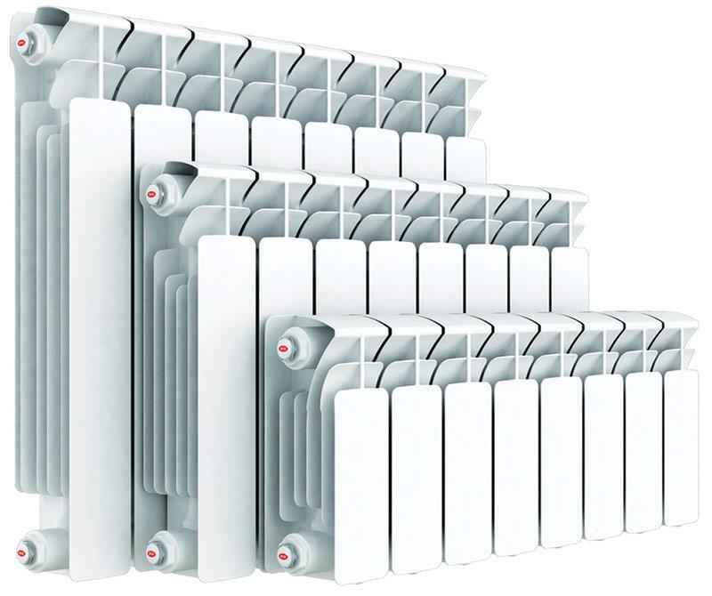 Radiadores de aquecimento de alumínio.
