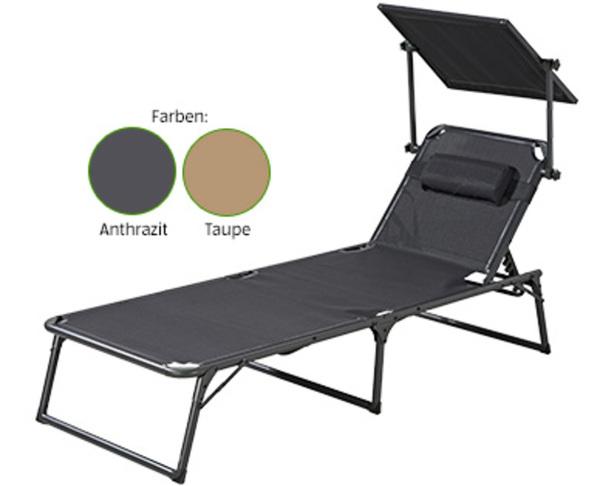 aluminium komfort sonnenliege von aldi