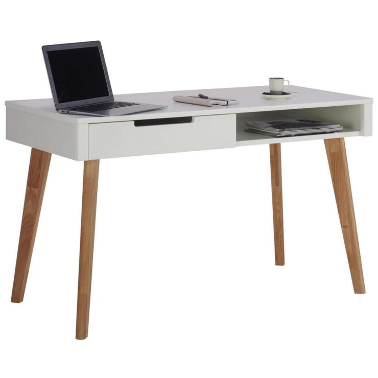 Schreibtisch Massiv Weiß 2021