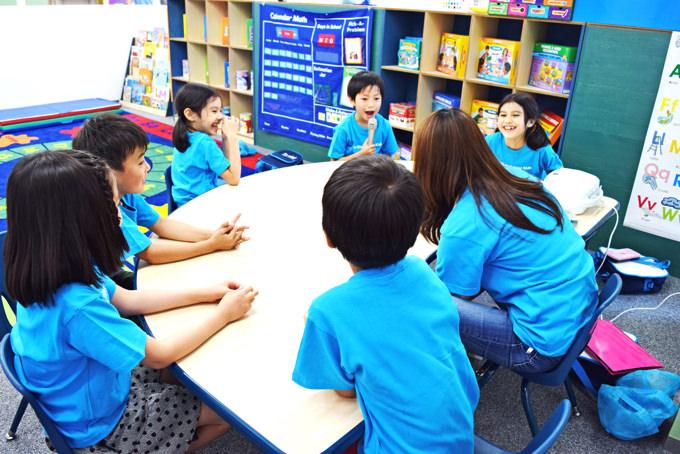 小学生向けのアフタースクール・英語学童にあたる「エレメンタリー」クラス。プレゼンテーションやディベートなども積極的に行い、問題解決力やコミュニケーション力もみにつけていきます。