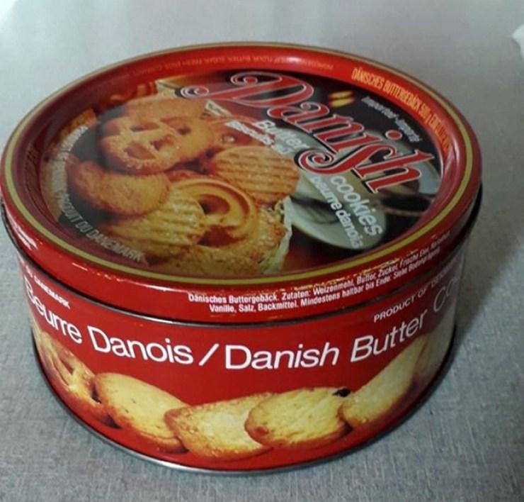 Kutija danskih kolača iz 1984.