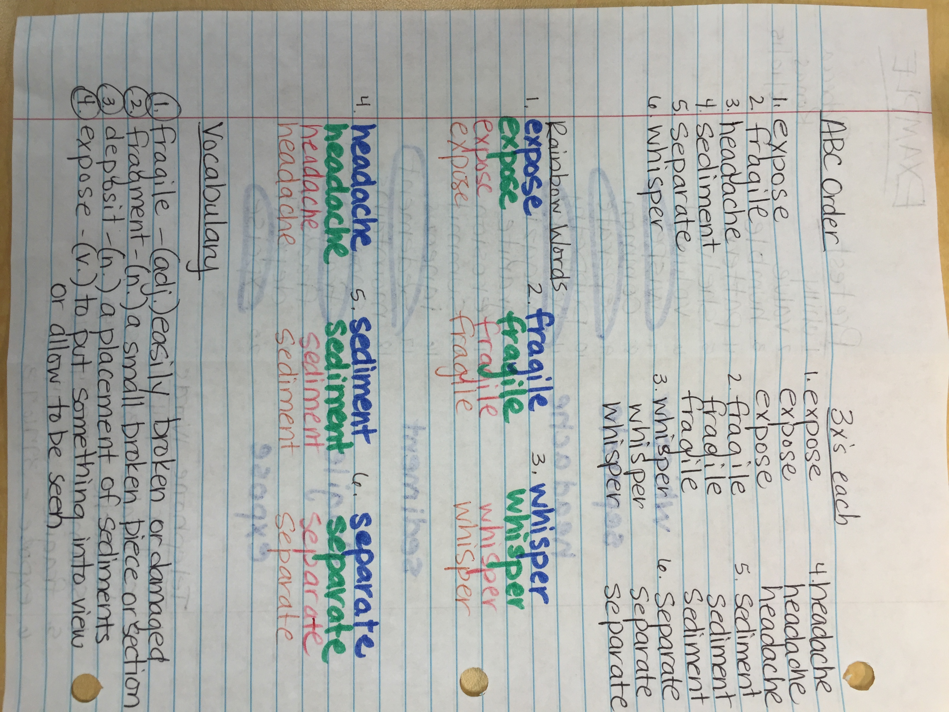 Spelling List 4th Grade Abeka