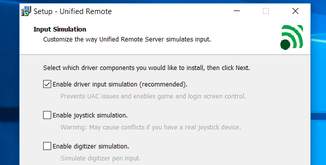 setup Unified Remote