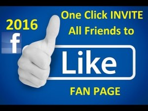 Invite All Friends to Like Facebook Page in 1 Click 2016