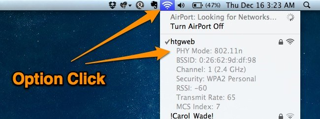 How to See Your Current Wi-Fi Connection Speed in Mac OS X (3)