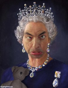 Crying-Face-Mr-Bean-As-Queen-Elizabeth-Funny-Photoshop-Image