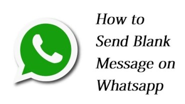 Send Blank Message in Whatsapp