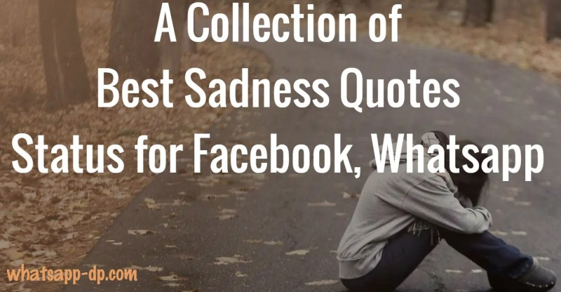 Sad Status- Best Sadness Quotes Status for Facebook Whatsapp
